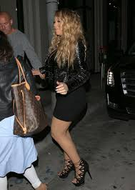 lyrica anderson and meagan good mariah carey in mini dress at catch restaurant in west hollywood