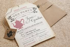 Wedding Registry Cards For Invitations Bridal Shower Tea Party Invitations Bridal Shower Tea Party