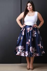 description this plus size skirt features taffeta floral print