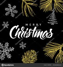merry christmas modern merry christmas modern calligraphy lettering and doodle on black