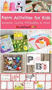 farm activities for kids lessons crafts printables and more