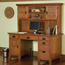 Computer Hutch Desk With Doors Classic Arts And Crafts Computer Desk Solid Wood Construction