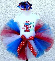 babys 1st fourth of july tutu