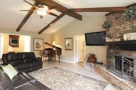 Vaulted Ceiling Living Room Interior Varnished Wood Beams Vaulted Ceiling Living Room Design