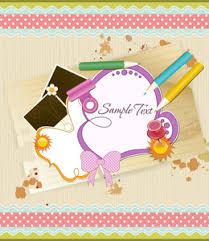 scrapbook elements vector illustration royalty free stock image
