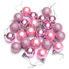 light pink ornaments