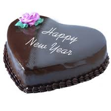 new year chocolate send new year heart shaped chocolate cake 1 kg to india gifts