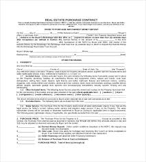 real estate purchase contract format 23 simple contract