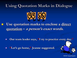 free using quotation marks dialogue punctuation powerpoint by