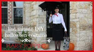 last minute diy halloween costume mary poppins youtube