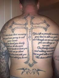 big cross with back poem golfian com