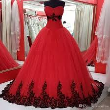 2018 red and black wedding dresses plus size real pictures