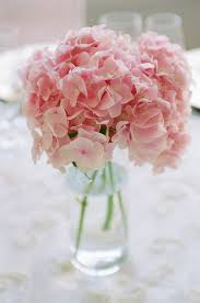 hydrangea centerpiece light pink hydrangea centerpiece
