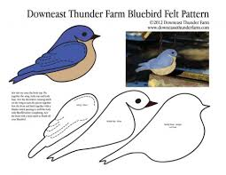 arrival of the bluebird felt ornament downeast thunder farm