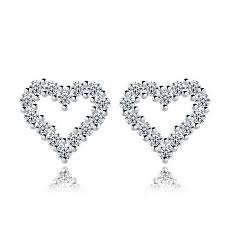 heart stud earrings heart stud earrings posh n popular jewelry