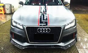 audi rs7 front aliexpress com buy aggressive rs7 front lower splitter lip