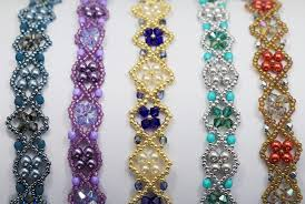 free beaded bracelet pattern images Deb roberti 39 s byzantium band bracelet pattern jpg