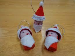 reuse crafts cork santa christmas ornaments