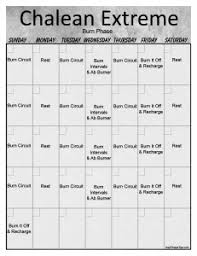 chalean extreme workout calendar print a workout calendar