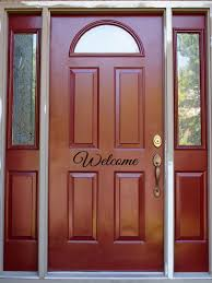 welcome door decal front door entryway house home decor