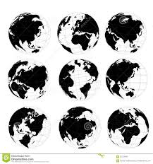 Black And White World Map Black And White World