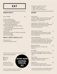 menu for brunch brunch menu northside yacht club