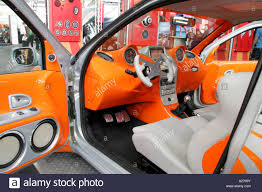 car tuning cabin in a futuristic style stock photo royalty free
