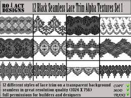 black lace trim second marketplace ro act designs 12 black seamless lace