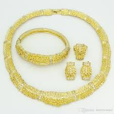 gold ring necklace images 2017 fashion dubai gold women jewelry sets 18k real gold plated jpg
