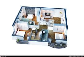 3d isometric floor plan of apartment by pradipta seth 3d cgsociety