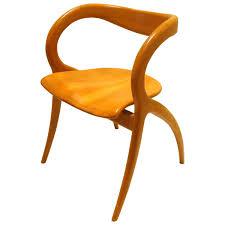 Scroll Arm Chair Design Ideas Striking Sculpted Organic Free Form Cherrywood Italian Chair By A