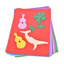 10 sheets sponge eva foam thick a4 paper kids handmade hand craft