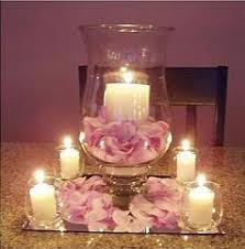 peachy wedding candle centerpieces best 25 rustic ideas on