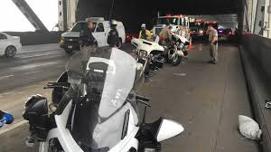 minor traffic accident involving chp motorcycle officer causes minor accident on bay bridge involving chp motorcycle officer