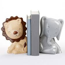 personalized bookends baby ceramic safari bookends baby aspen