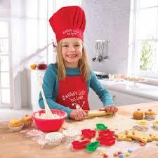 tablier de cuisine pour enfants tablier et toque ajustable pour enfant cooksmart pour noël