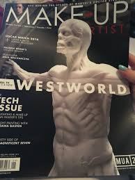 magazines for makeup artists westworld feature in this months issue of make up artist magazine