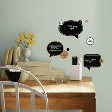 chalk and dry erase speech bubbles peel and stick wall decals