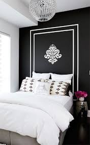 painted headboard stacey cohen gorgeous bold black accent wall with white painted