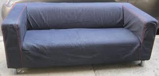 Denim Sofa Slipcovers by Uhuru Furniture U0026 Collectibles Ikea Klippan With Denim Cover Sold