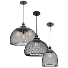 wire pendant light fixtures l2 1529 mercator dustin black wire mesh pendant light range