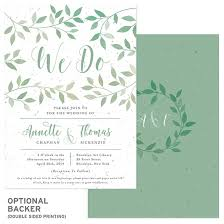 Plantable Wedding Invitations Lovely Leaves Plantable Wedding Invitation Plantable Wedding