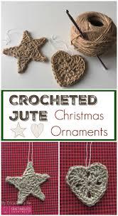 crocheted jute christmas ornaments christmas christmas diy