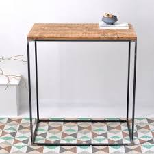 iron and wood side table side tables notonthehighstreet com