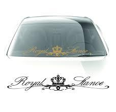 royal stance windshield sticker 35