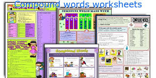 english teaching worksheets compound words