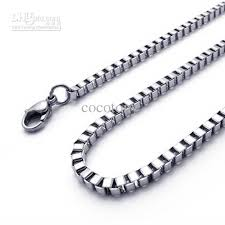 wholesale steel necklace chains images High quality 20 39 39 28inch stainless steel box chain 316l necklace jpg