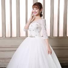 Aliexpress Com Buy Lamya Vintage Sweatheart Lace Bride Gown Aliexpress Com Buy Lamya Sale Sweet Heart Three Quarter