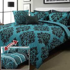 Black And Teal Comforter Blue Black White Damask 10 Piece Comforter Set Bedroom Reversible