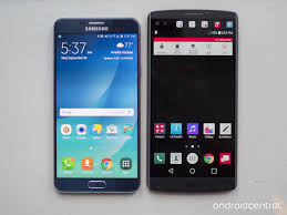 in pictures lg v10 vs samsung galaxy note 5 android central
